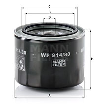 Öljynsuodatin MANN-FILTER WP 914/80