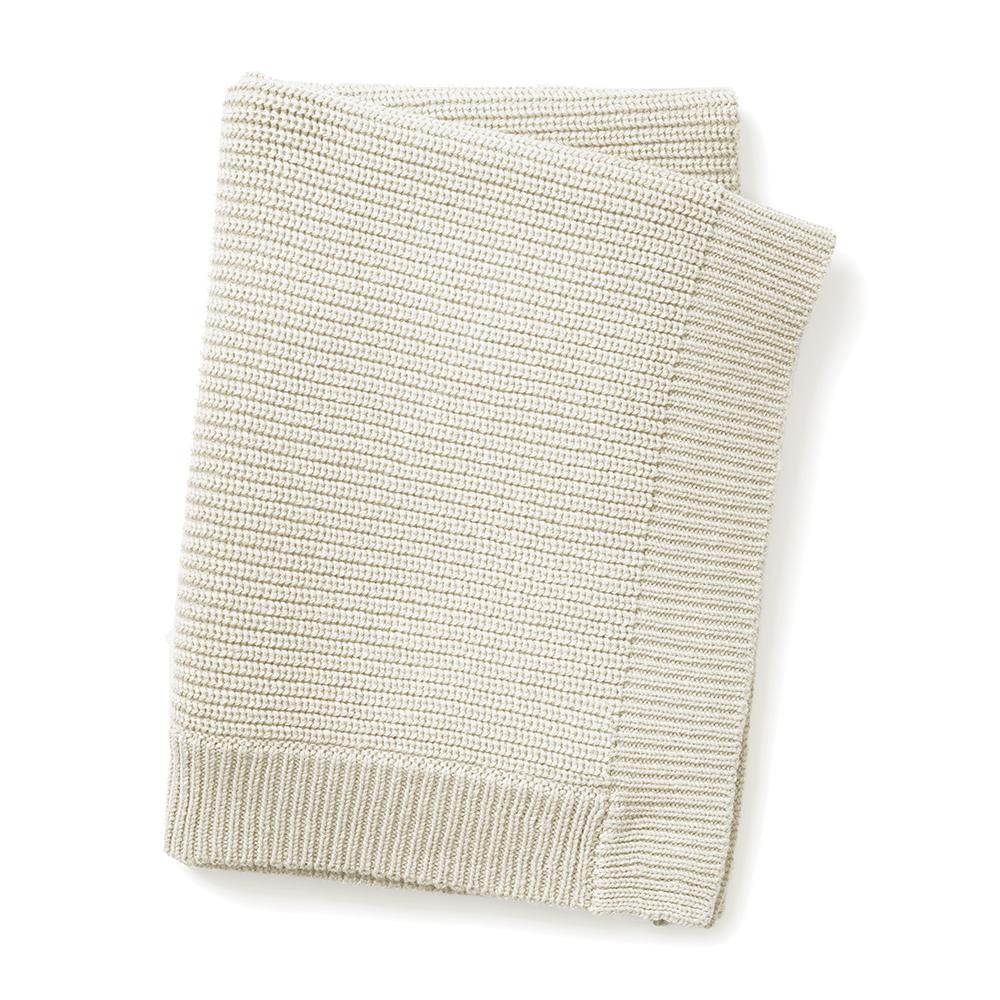 Wool Knitted Blanket - Vanilla White