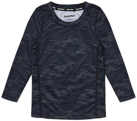 Hyperfied Long Sleeve Logo T-Shirt, Grey Camo 86-92