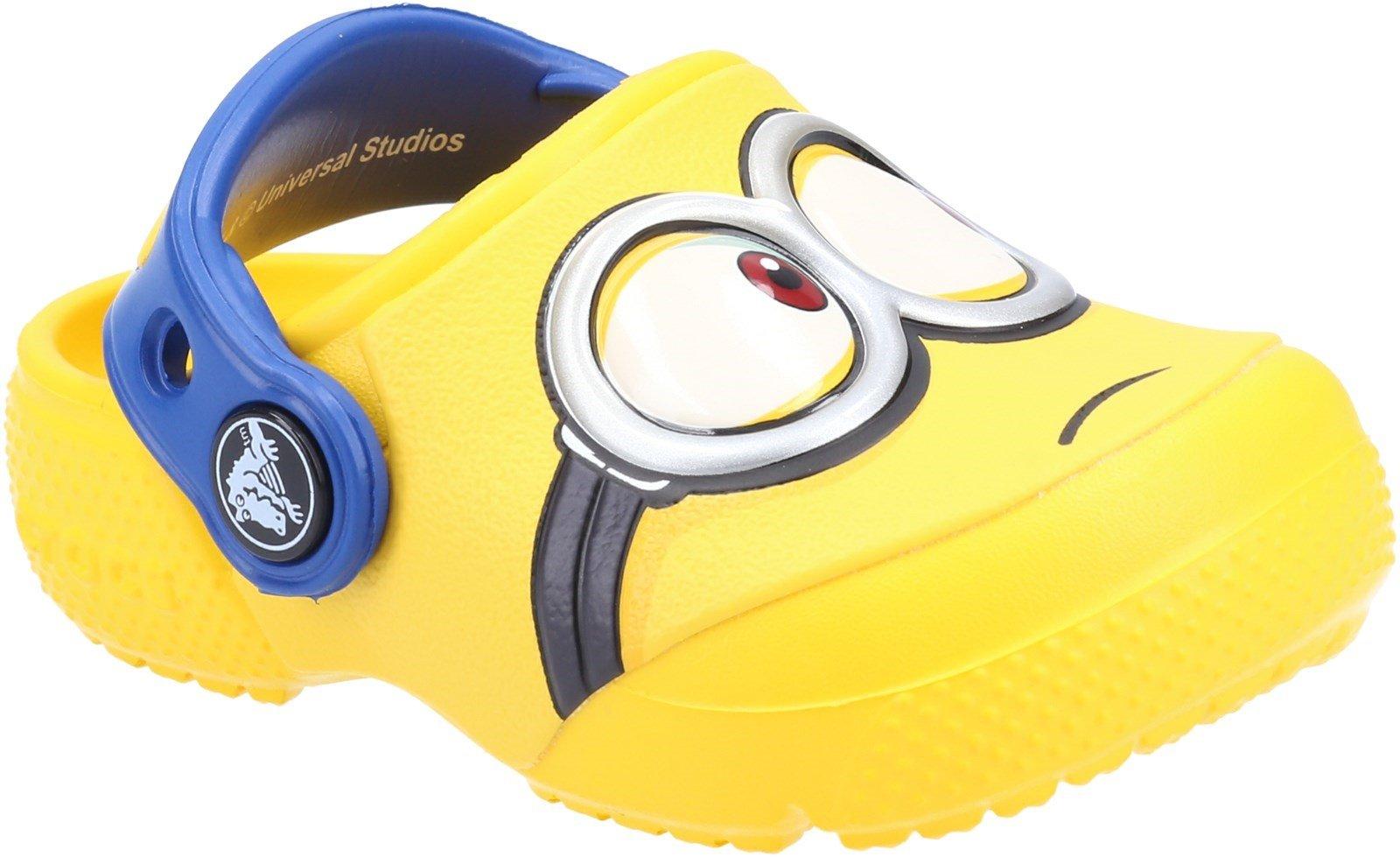 Crocs Kid's Fun Lab Minions Clog Sandal Yellow 32026 - Yellow 13