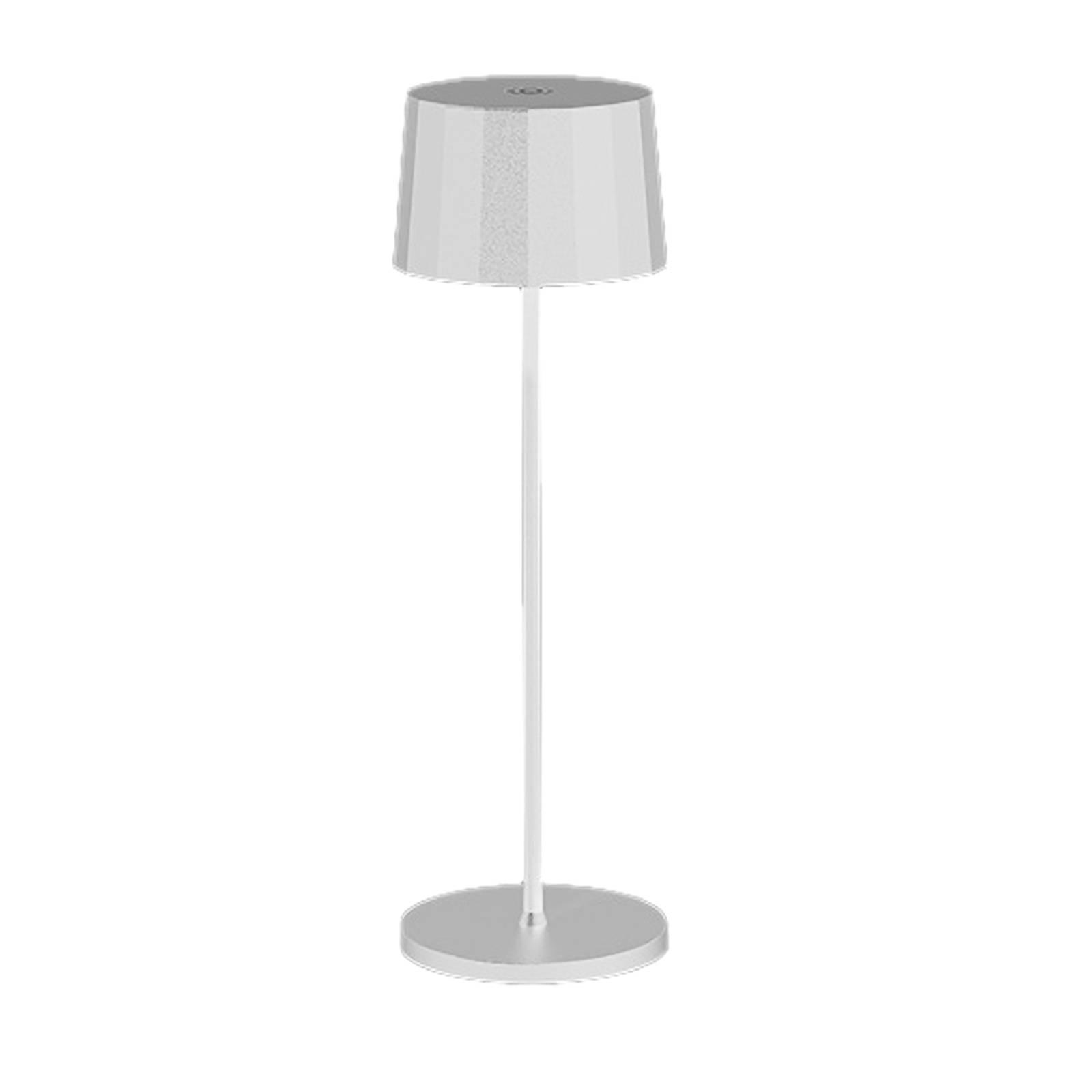 Egger Tosca -LED-pöytälamppu, akku, valkoinen