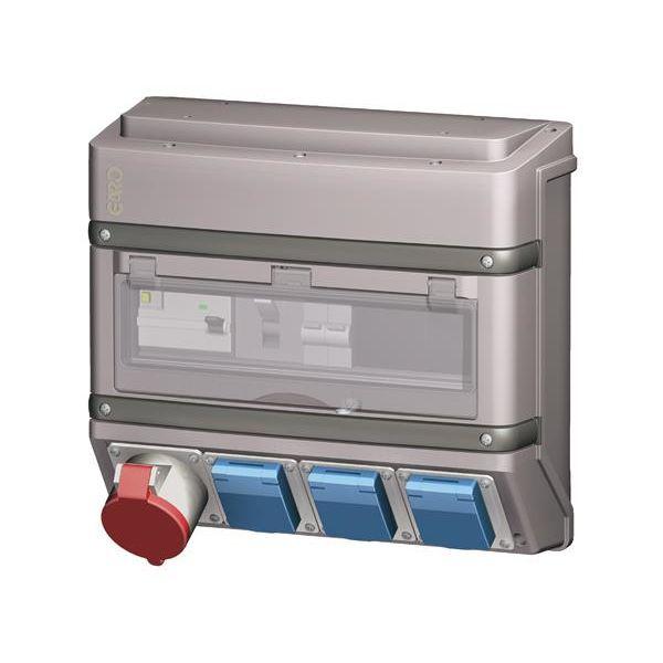 Garo 2468802 Pistorasialaatikko IEC-pistorasia 3 kpl 16A