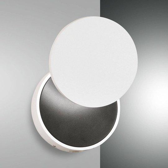 LED-vegglampe Ara med lesespot, hvit og svart