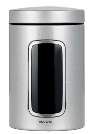 Oppbevaringsboks med vindu 1.4 Ltr Metallic Grey