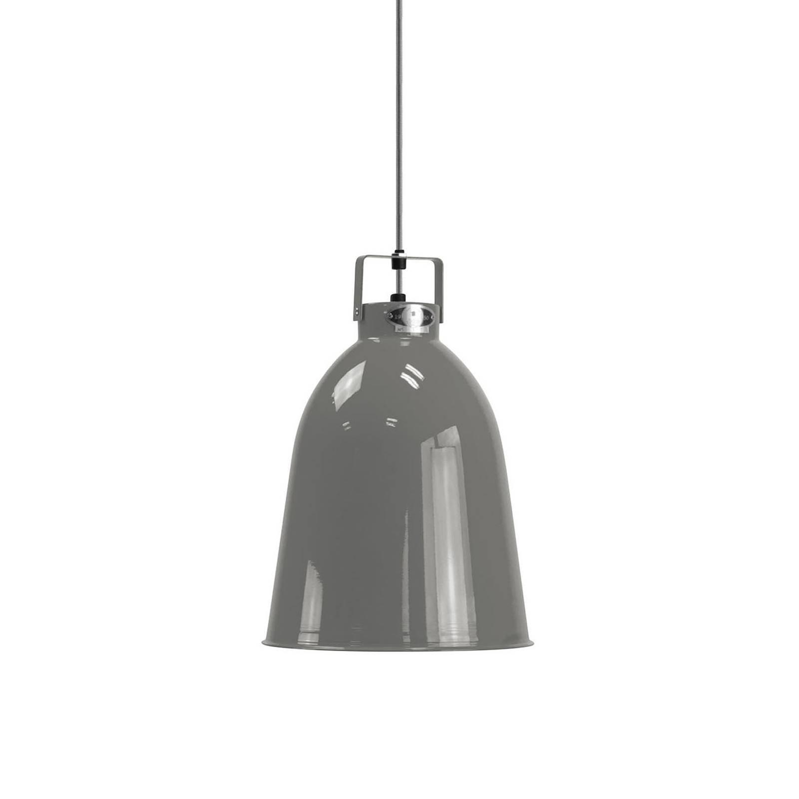 Jieldé Clément C240 hengelampe, blank grå, Ø24cm