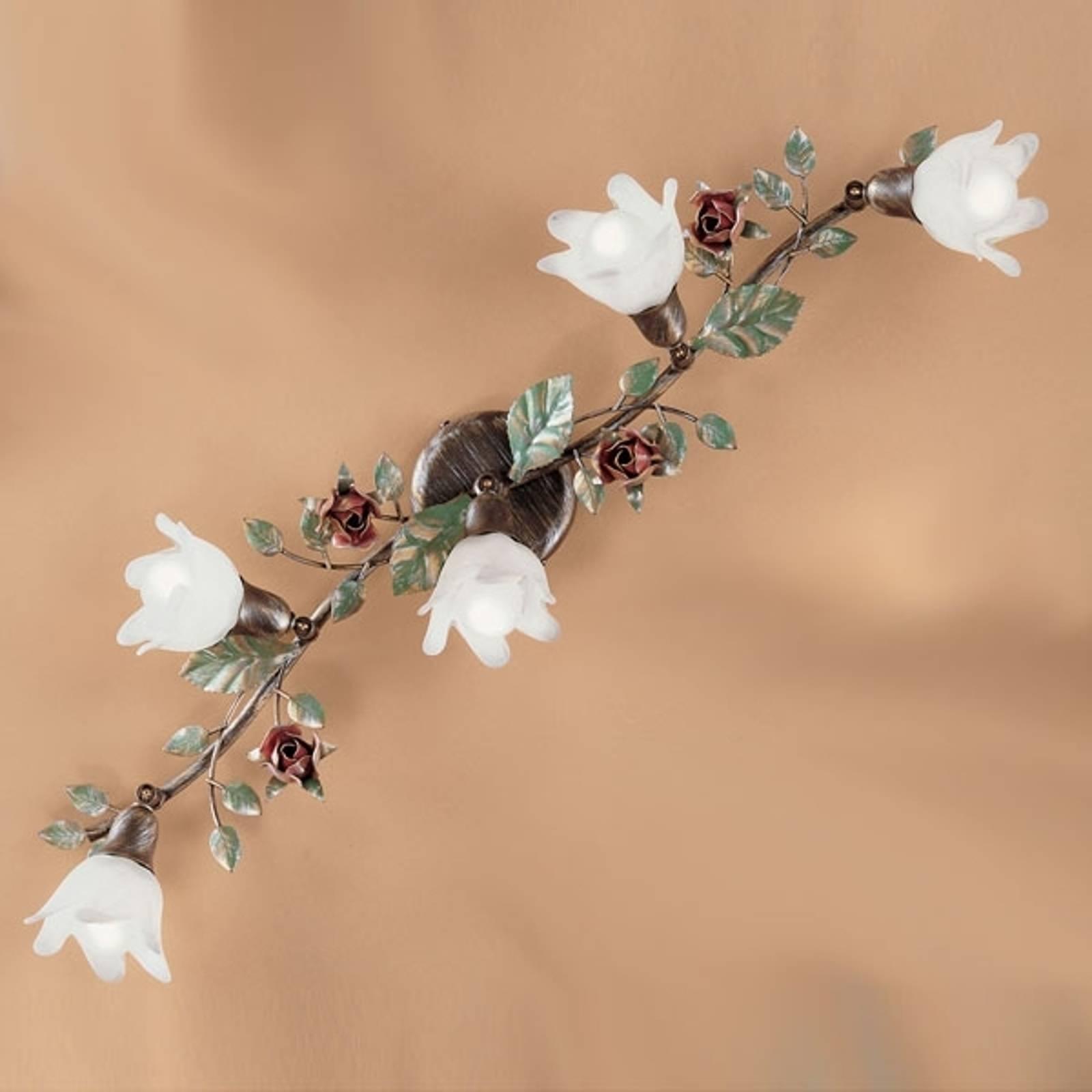 Rosaio-kattolamppu, pitkulainen, 5-lamppuinen