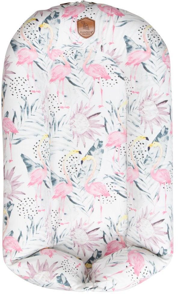 EcoViking Organic Babynest Flamingo Dreams