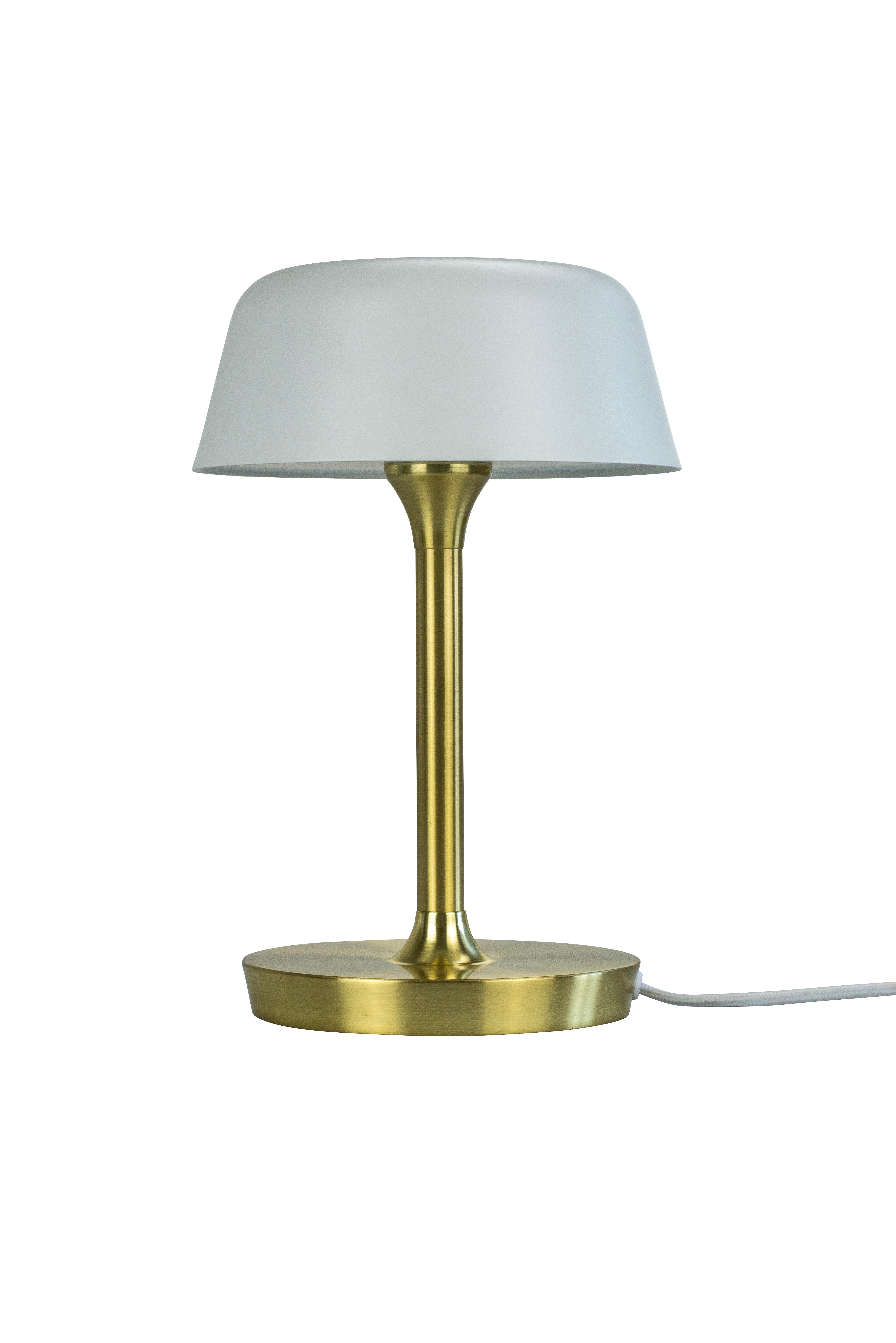 Dyberg-Larsen - Valencia 230v Table Lamp - Matt White With Brass (7123)