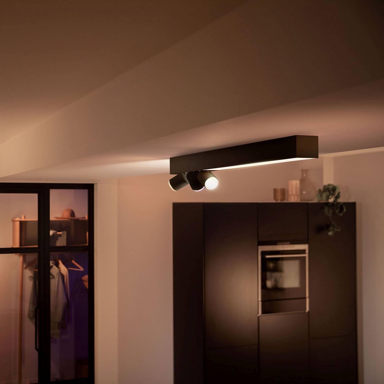 Philips Hue Centris takspot 3 lyskilder, svart
