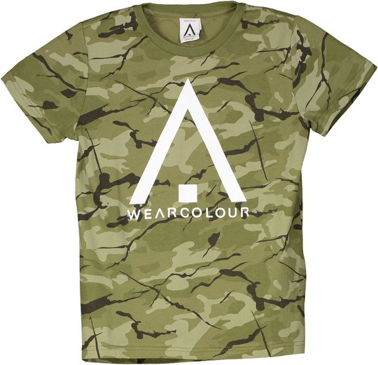 Wearcolour Patch T-Shirt, Forest 160