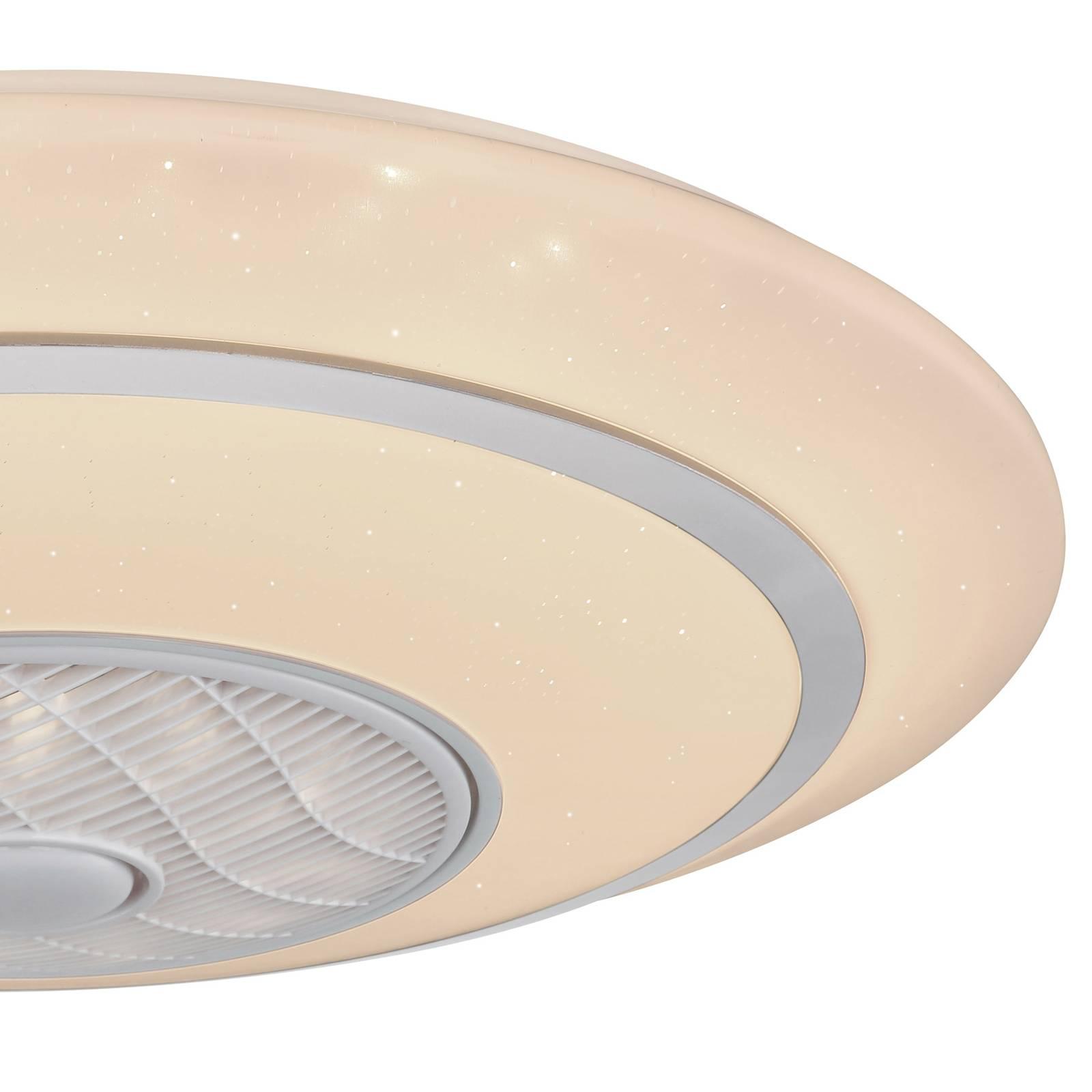 Kattotuuletin Rosario, LED, CCT, Ø 77 cm