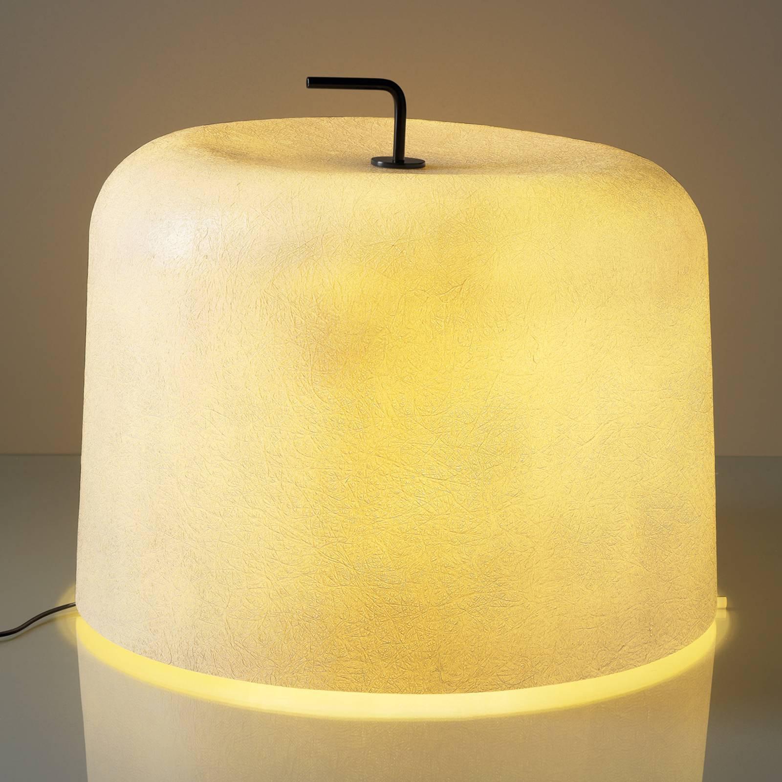 Gulvlampe Ola Move med hvit glassfiberskjerm