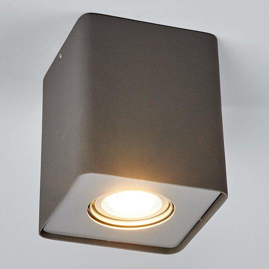 LED-alasvalo Giliano 1-lampp. kulmikas, grafiitti