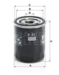 Öljynsuodatin MANN-FILTER W 67