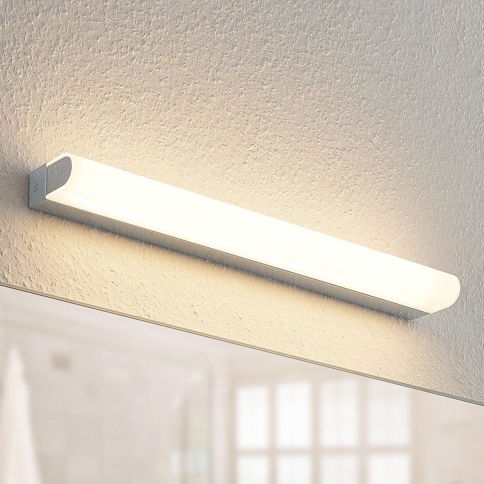 Arcchio Mourice LED-vegglampe, IP44, krom, 55 cm