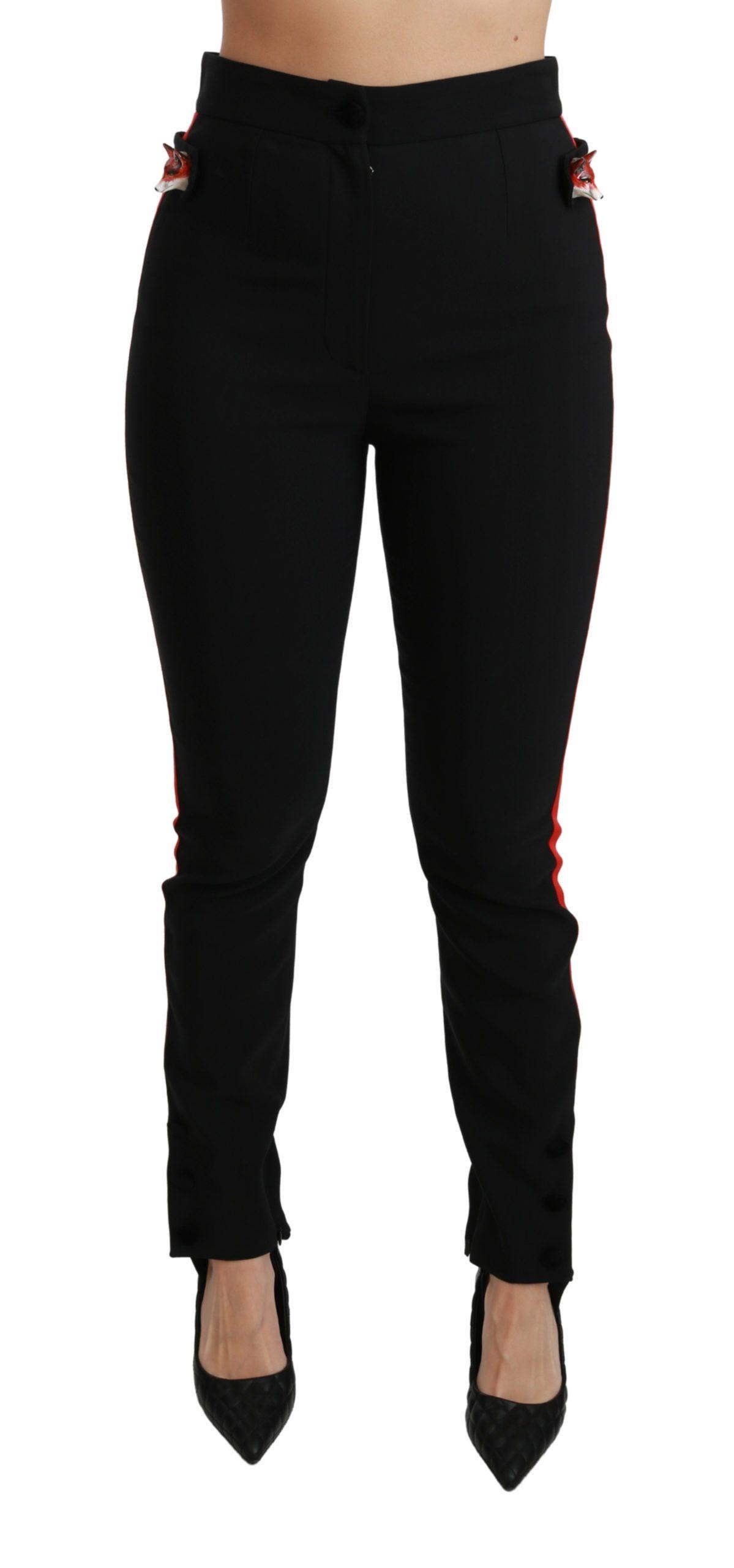 Dolce & Gabbana Women's Skinny Stretch Cotton Trouser Black PAN70896 - IT36 | XS