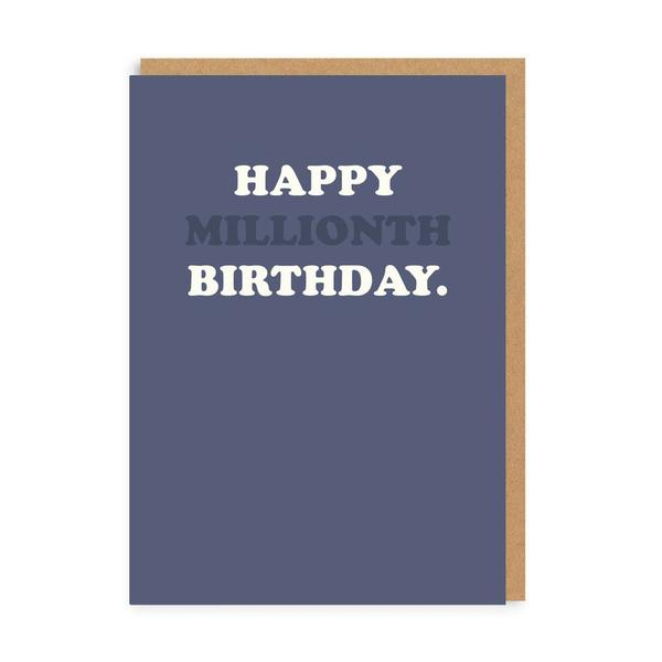 Happy Millionth Bday Greeting Card