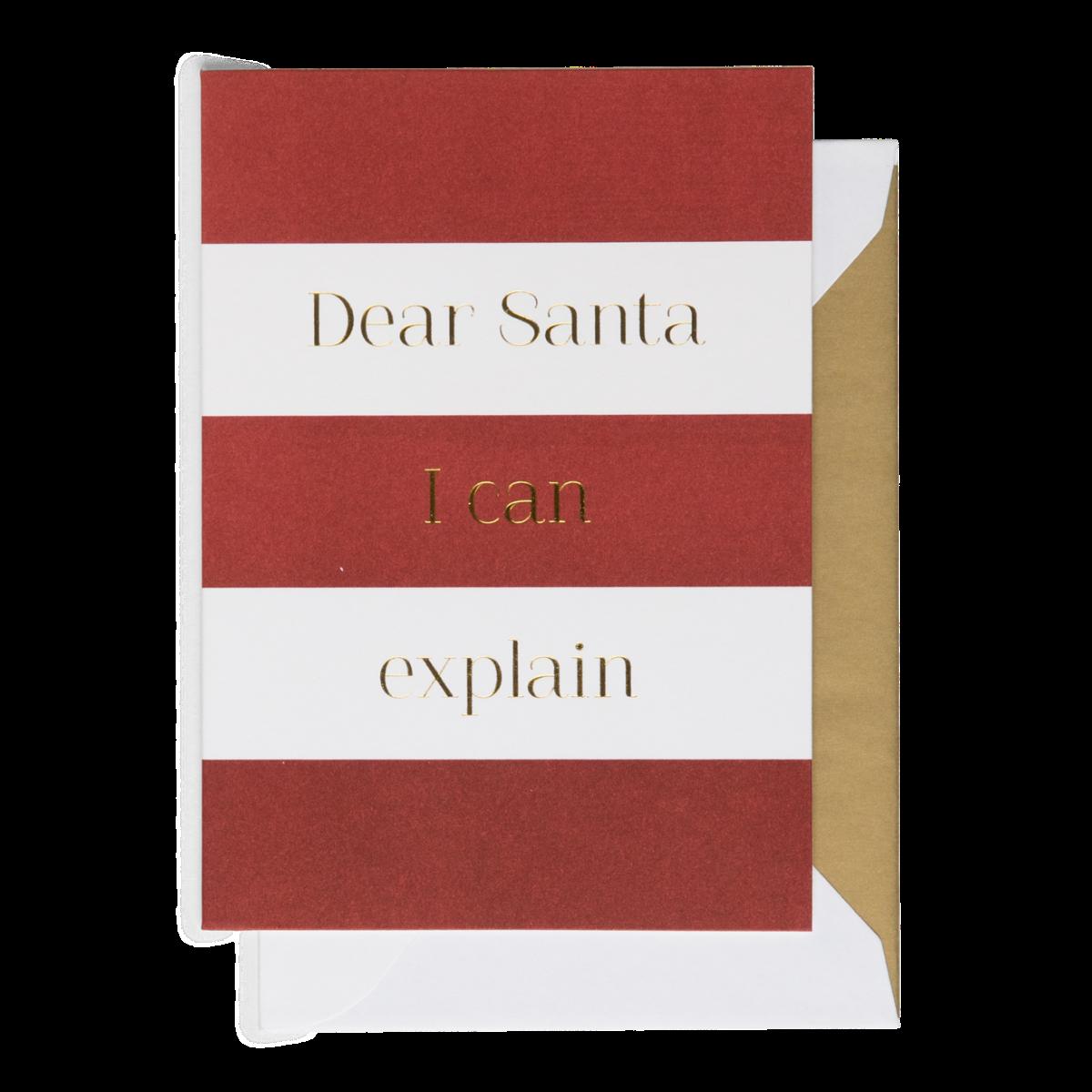 Cardsome   Cards - Dear Santa, I Can Explain