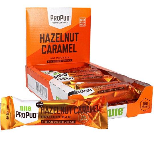 Proteiinipatukat Hazelnut & Caramel 12kpl - 44% alennus
