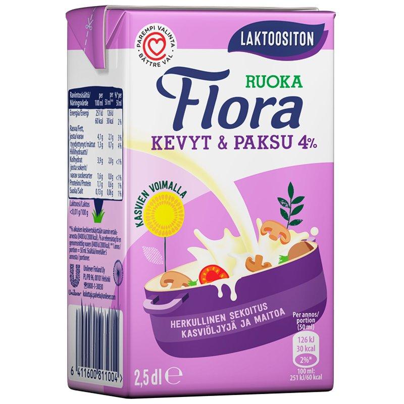 Laktoositon Flora Ruoka 250 ml - 39% alennus