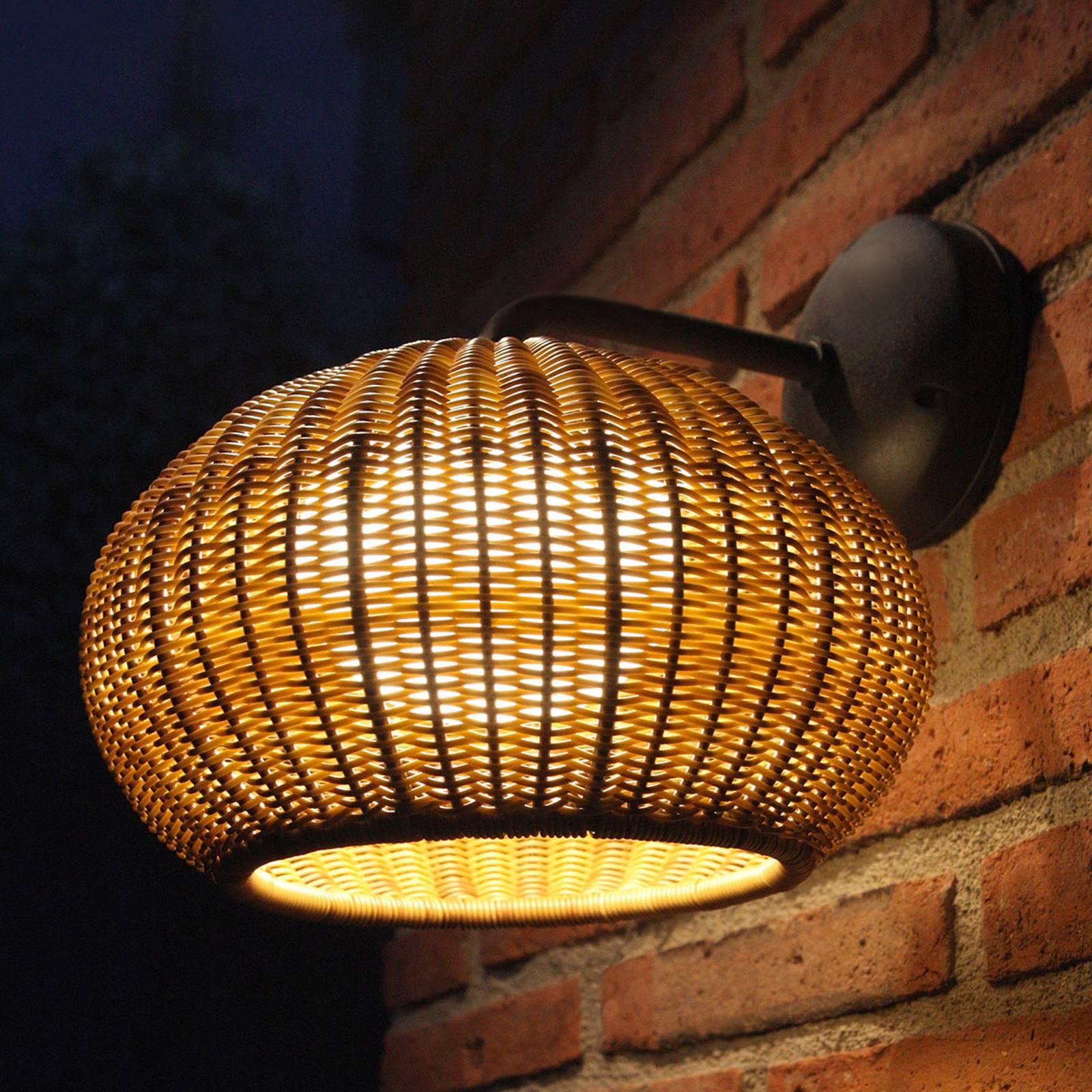 Bover Garota A/01 LED-ulkoseinävalo, ruskea
