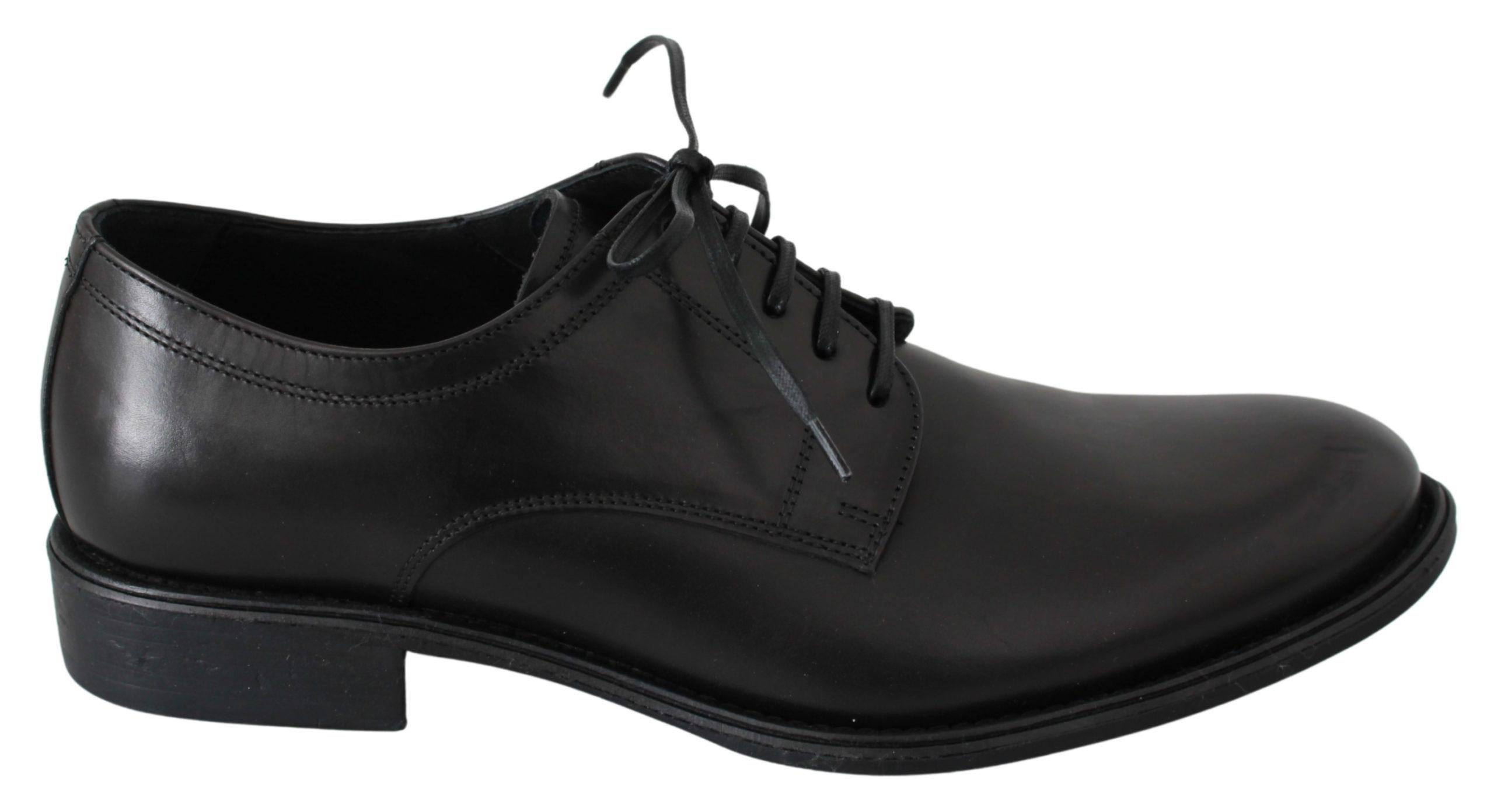 Black Leather Derby Formal Dress Mens Shoes - EU41/US8