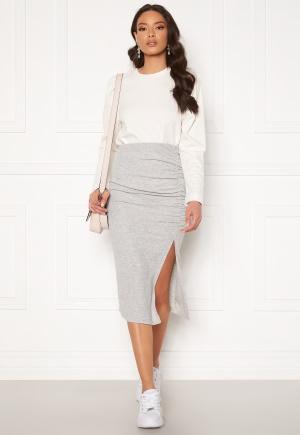ONLY Nella Slit Skirt Light Grey Melange XL