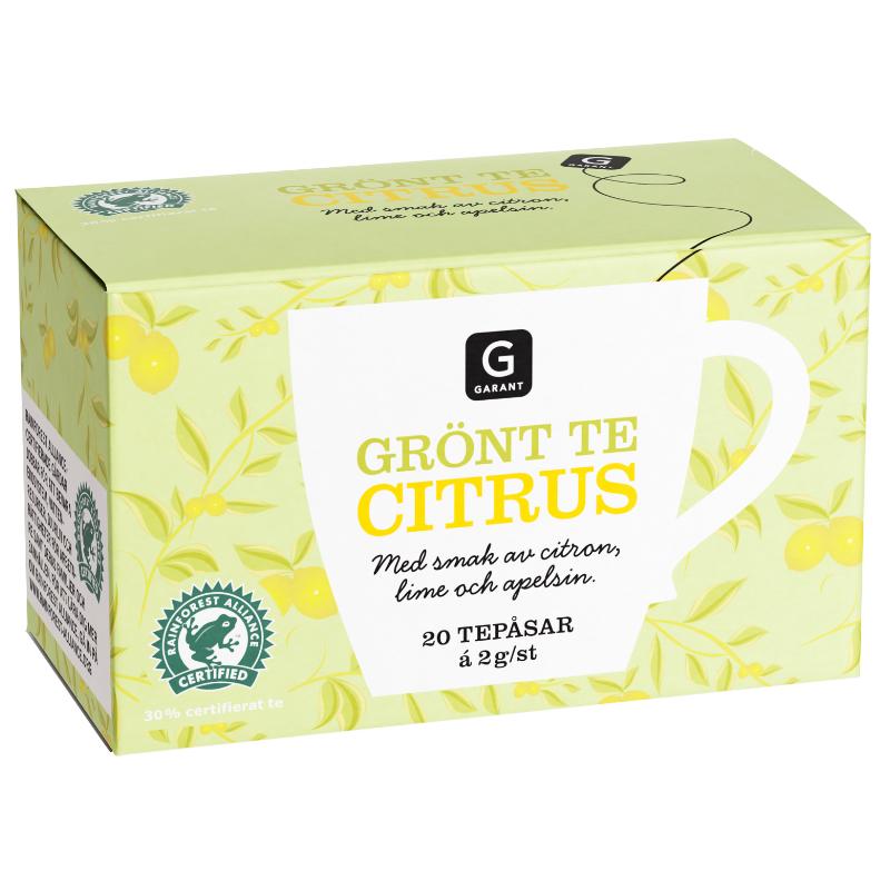 Grönt Te Citrus 20 x 2g - 50% rabatt