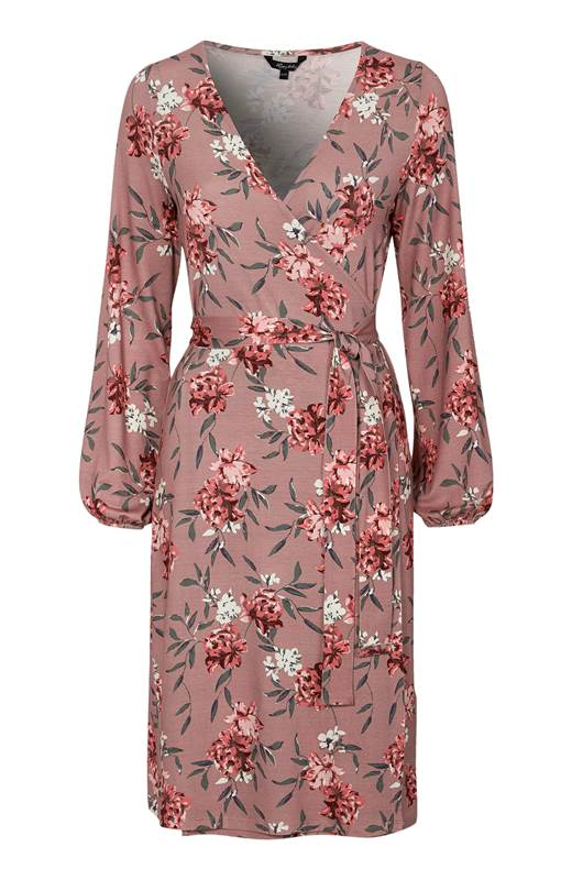 Happy Holly Omlottklänning i trikå Amanda Rosa Blommig