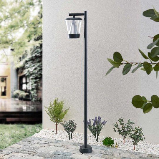 Lucande Tiany -LED-pylväsvalaisin, lyhty, 140 cm