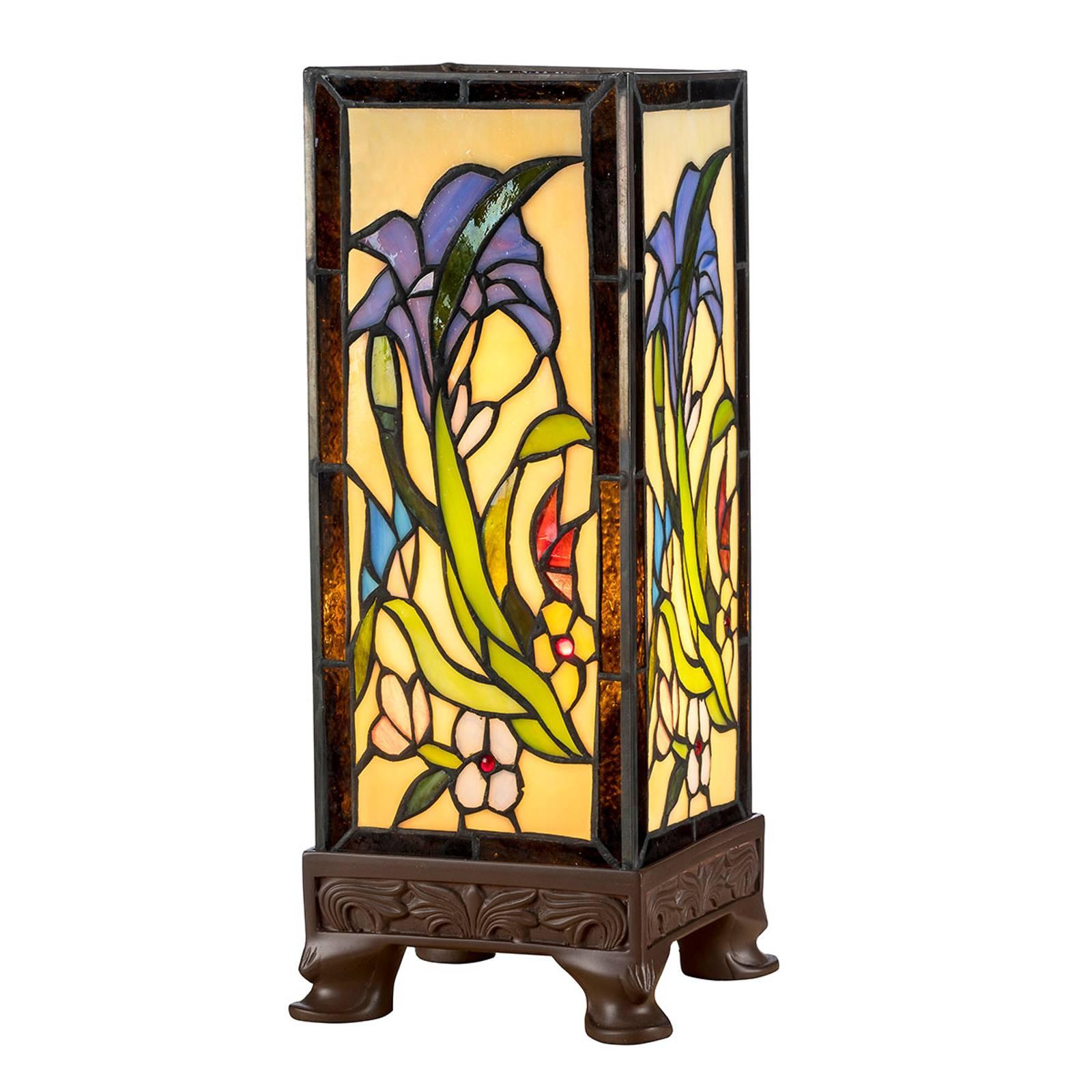 Pöytälamppu KT180029 tiffany-tyyliä, neljä jalkaa