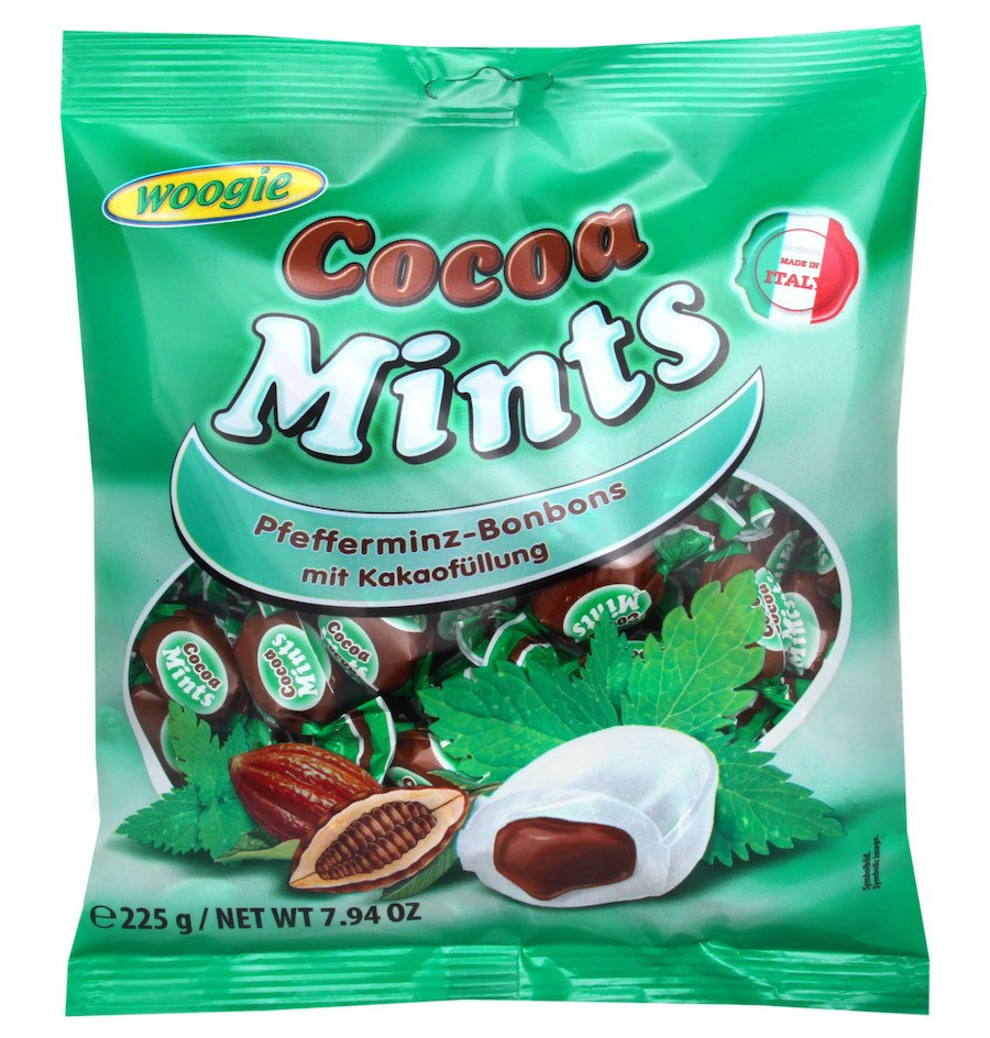Woogie Cocoa Mints 225g
