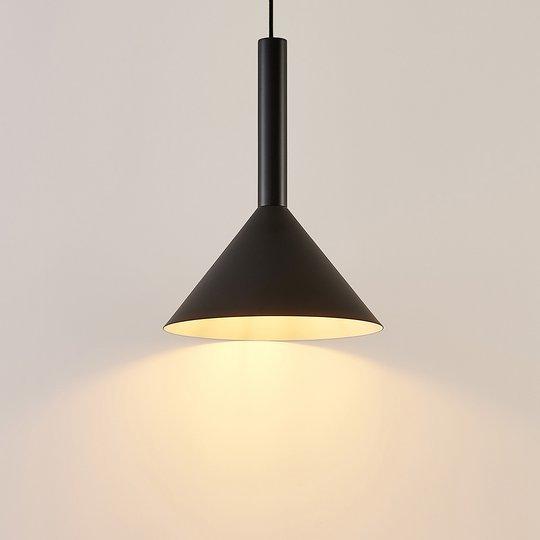 Arcchio Tadej -riippuvalo 1-lamp. 30cm musta-valk.
