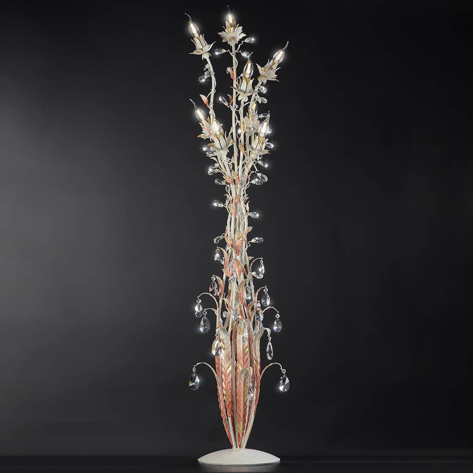 Gulvlampe i florentinerstil Fiona med dimmer