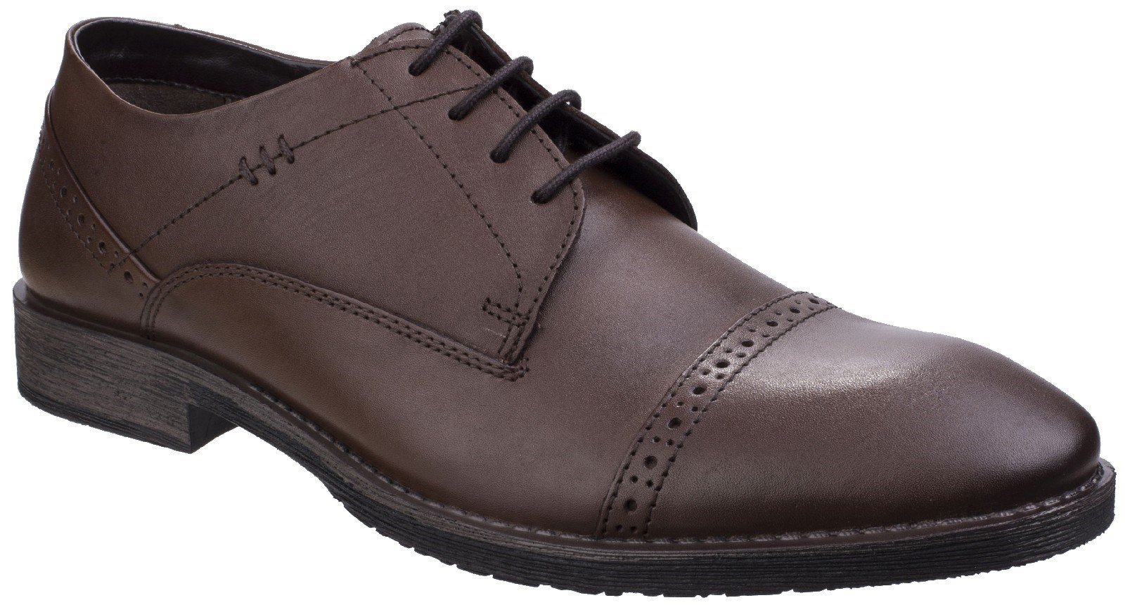 Hush Puppies Men's Craig Luganda Brogue Shoe Brown 25747 - Brown 6