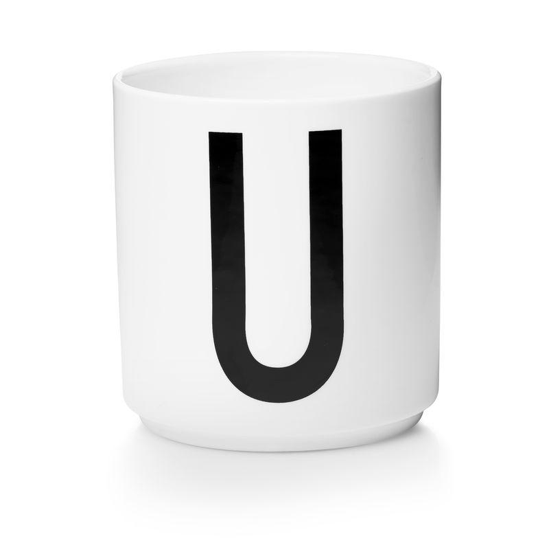 Design Letters - Personal Porcelain Cup U - White