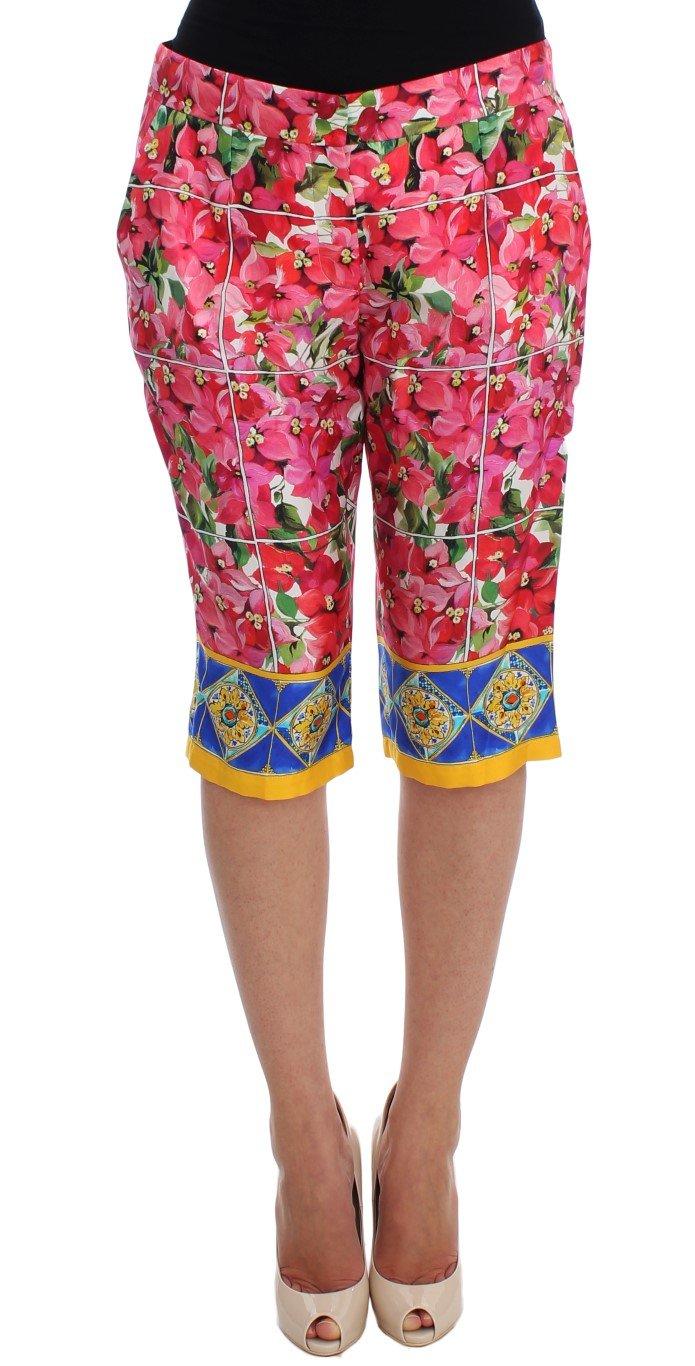 Dolce & Gabbana Women's Floral Knee Capris Shorts Multicolor SIG20001 - IT38|XS