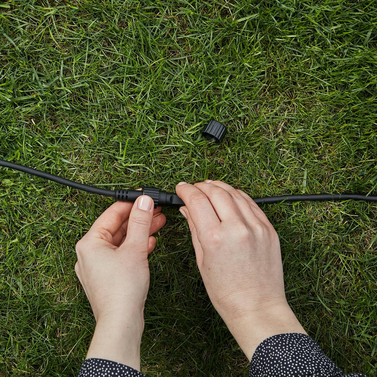 Garden 24 -jatkojohto, musta, 10 m