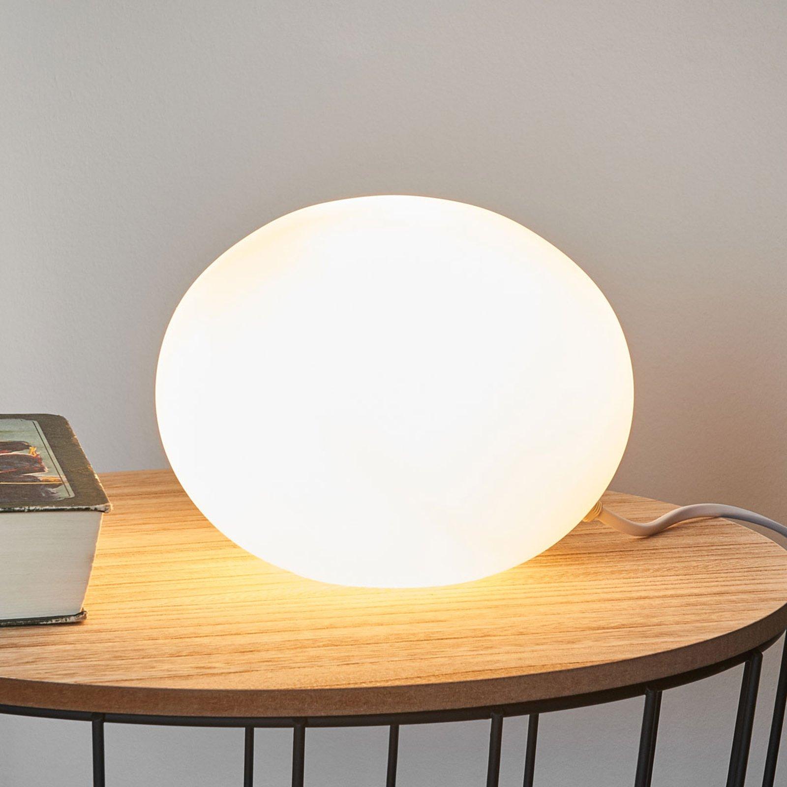 Dekorativ bordlampe Glass Oval Ø 18 cm