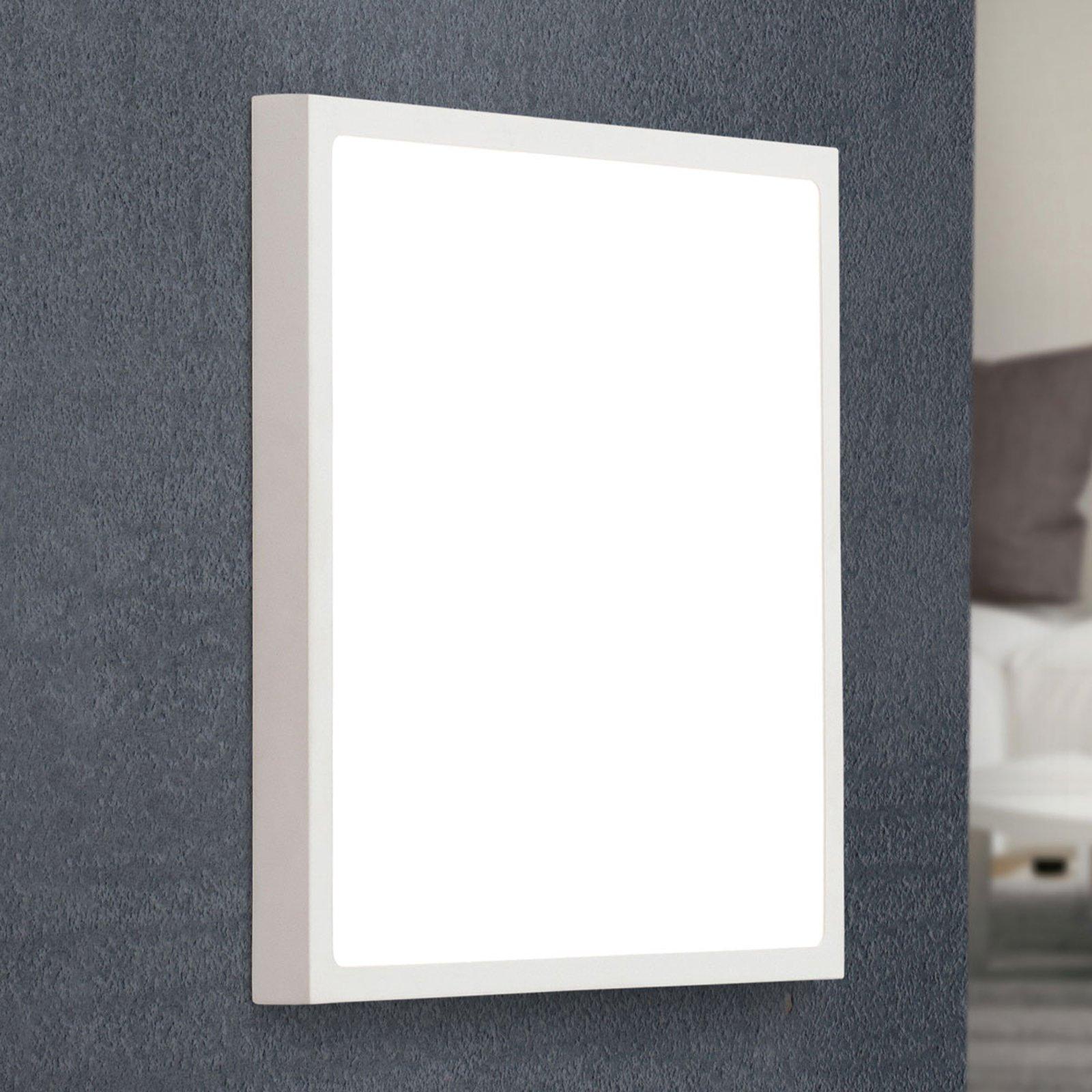 LED-vegglampe Vika, firkantet, hvit, 30x30cm