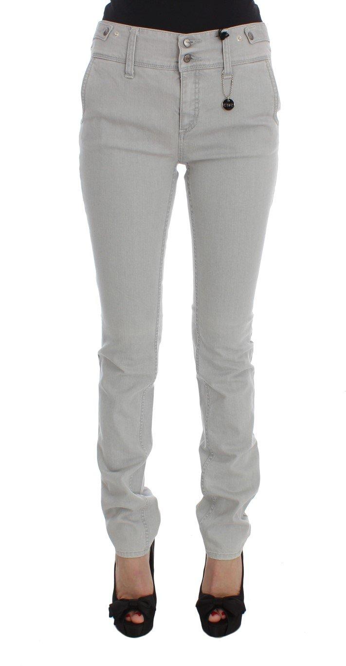 Costume National Women's Cotton Blend Super Slim Fit Jeans Gray SIG32593 - W26
