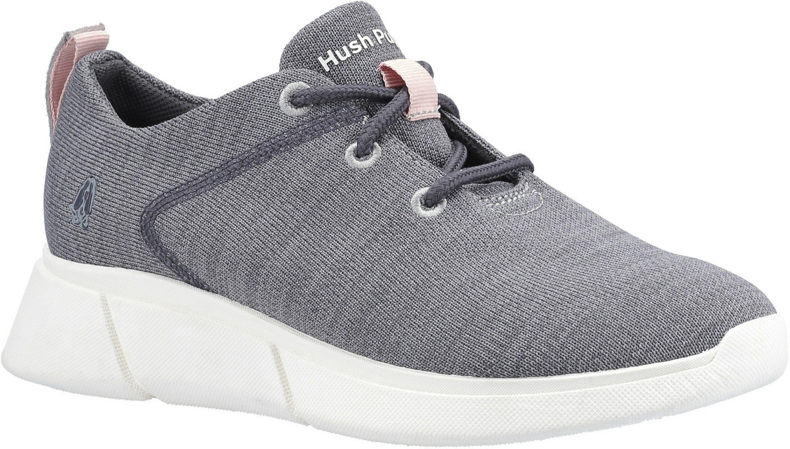 Hush Puppies Women's Makenna Lace Up Shoe Various Colours 30234 - Grey 3