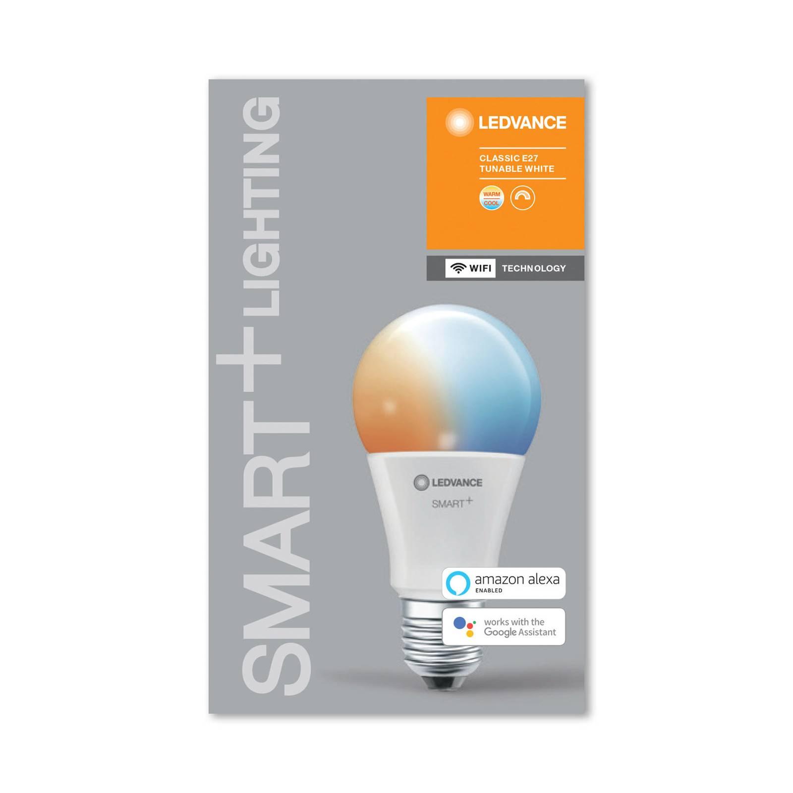 LEDVANCE SMART+ WiFi E27 9,5W Classic 2 700–6 500K
