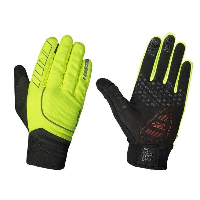 GripGrab Hurricane Hi-Vis Windproof Midseason Glove, Cykelhandskar vinter