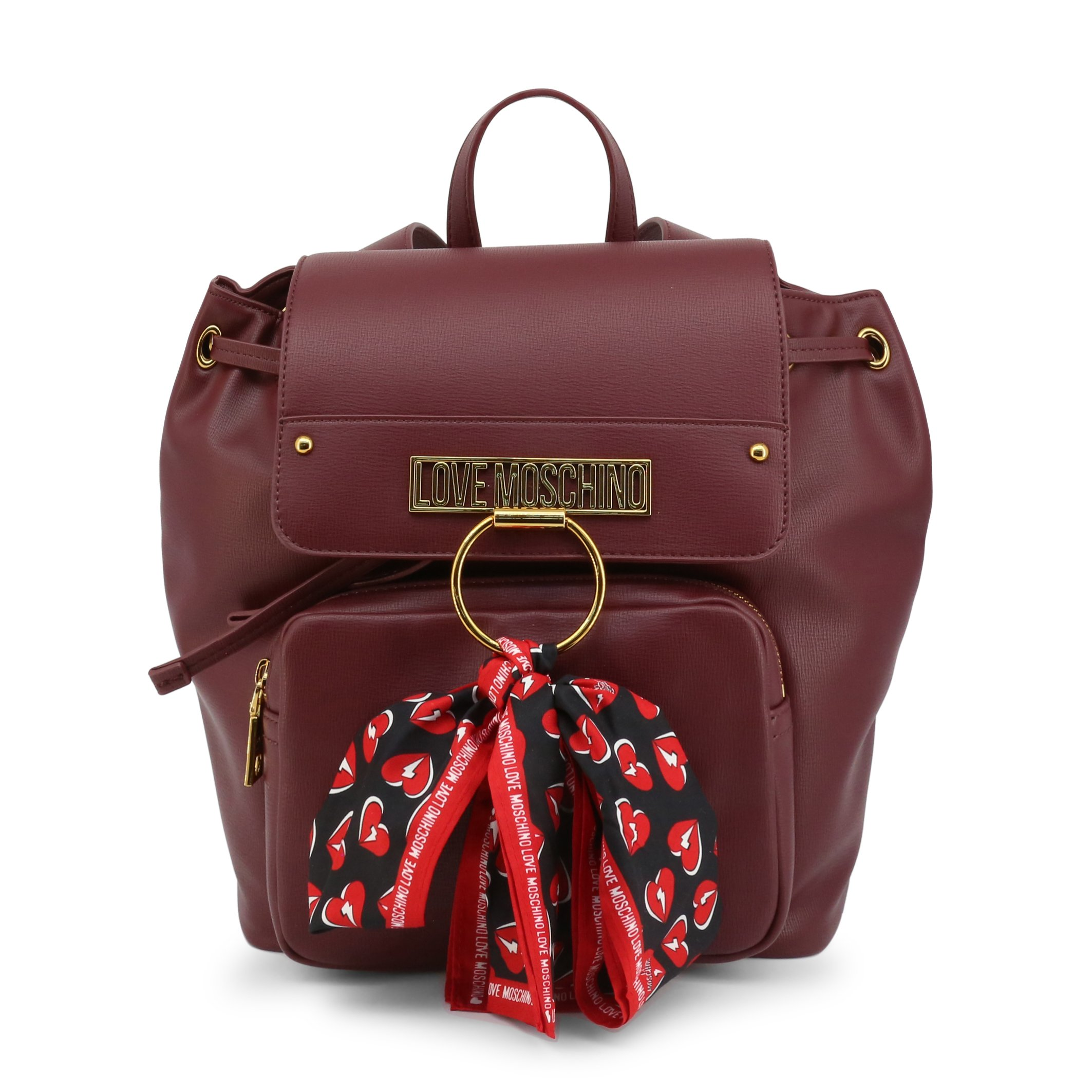 Love Moschino Women's Backpack Black JC4231PP0BKF - red NOSIZE