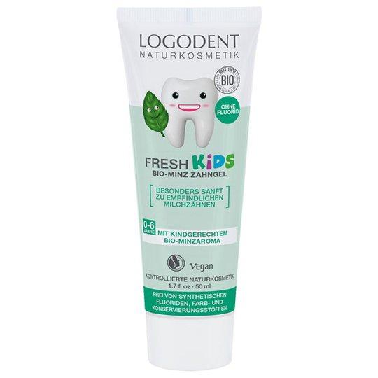 Logona Fresh Kids Mint Toothgel, 50 ml
