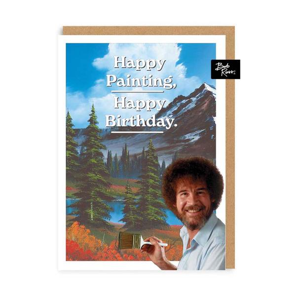 Mountain Happy Painting Birthday Greeting Card
