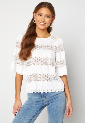 Happy Holly Maria kimono sleeve top White 40/42