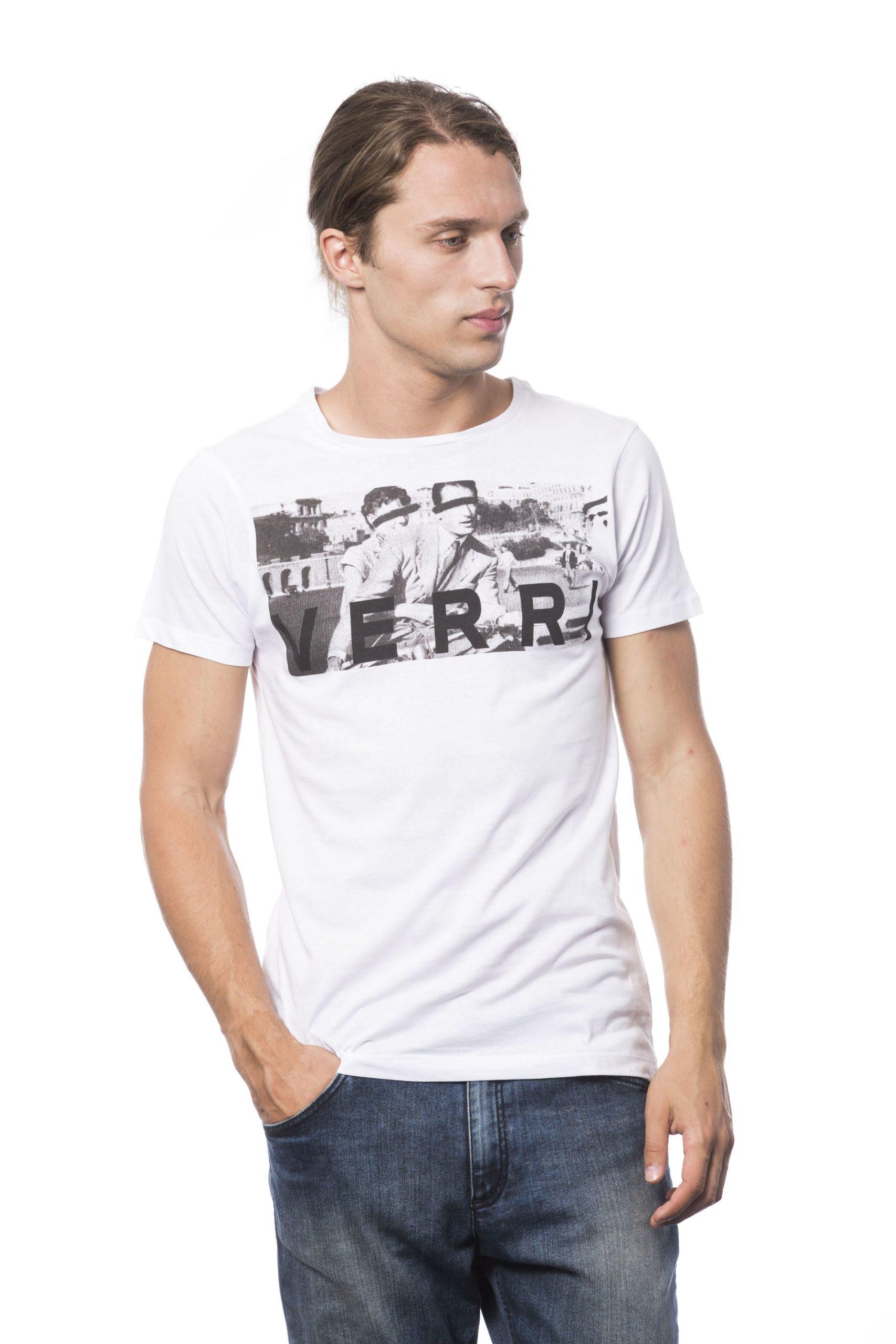 Verri Men's Bianco T-Shirt White VE682808 - S