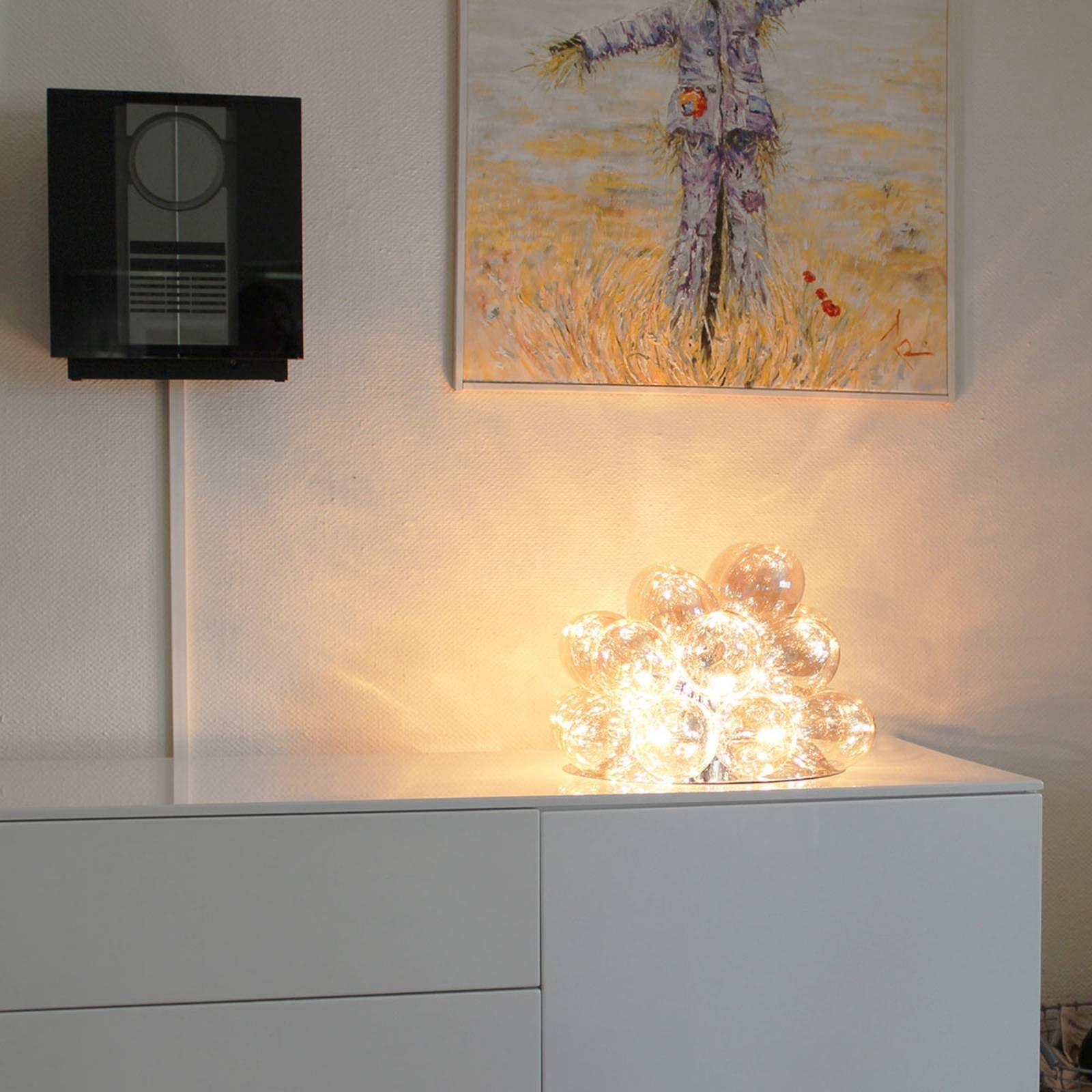 By Rydéns Gross glass-bordlampe, rav